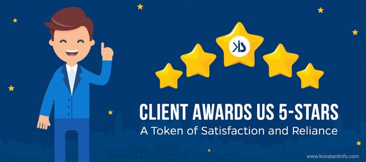 Client Awards Us 5-Stars- A Token of Satisfaction and Reliance