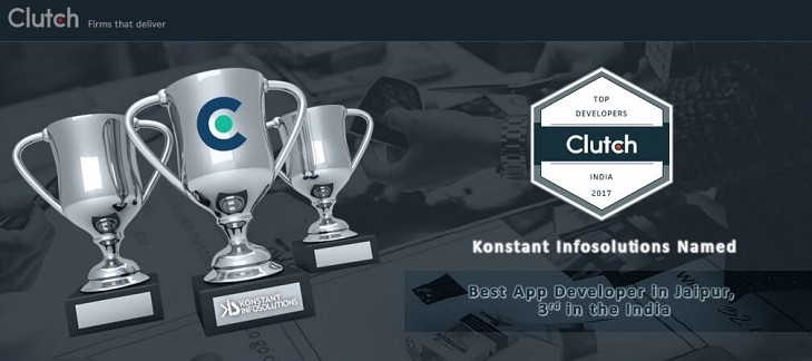 Konstant Infosolutions recognized as best app developer from Jaipur, India