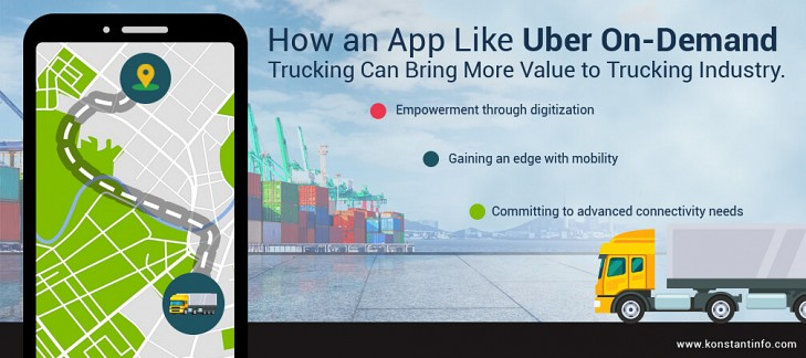 How an App Like Uber On-Demand Trucking Can Bring More Value to Trucking Industry
