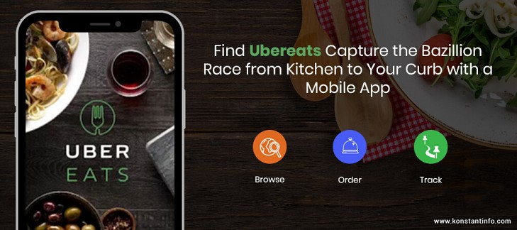 Find Ubereats Capture the Bazillion Race from Kitchen to Your Curb with a Mobile App