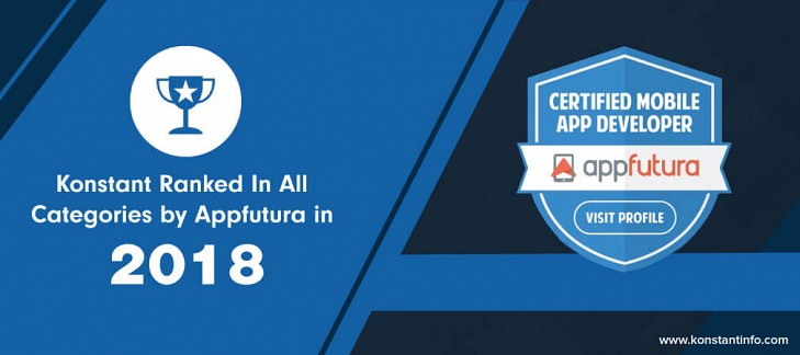 Konstant Ranked In All Categories by Appfutura in 2018
