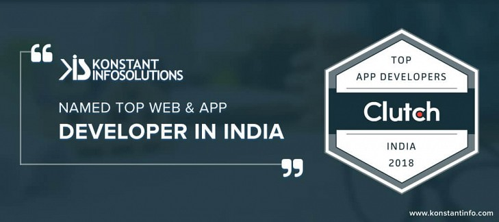 Konstant Infosolutions Named Top Web & App Developer in India