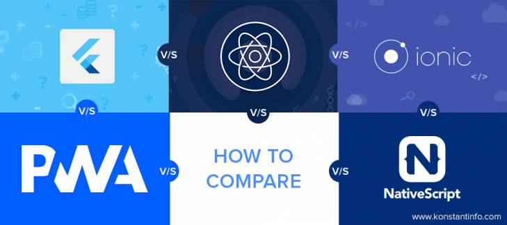 How Do Sequencers Like React Native vs Flutter vs Ionic vs NativeScript fare-thee-well as Compared to PWA?