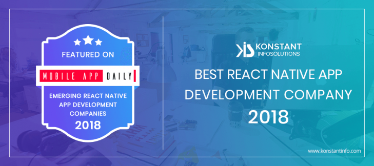 Konstant Gets Named Among Best React Native Developers 2018