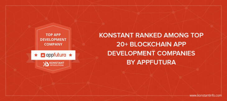 Konstant Ranked Among Top 20+ Blockchain App Development Companies by Appfutura