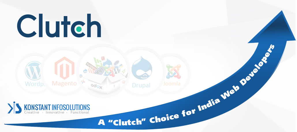 """Konstant Infosolutions – A """"Clutch"""" Choice for India Web Developers"""