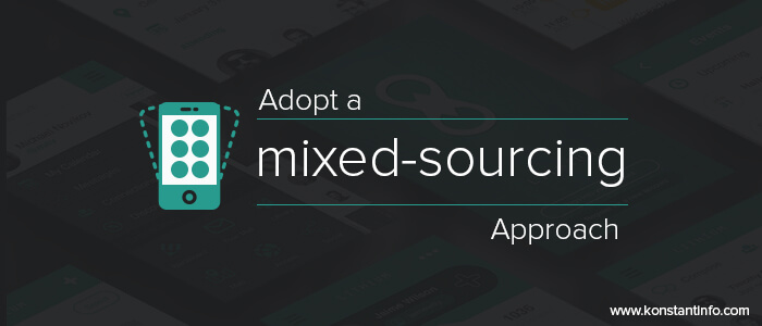 Adopt-a-mixed-sourcing-approach