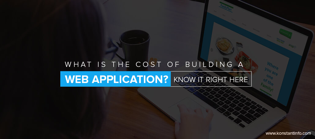 What is the cost of building a web application know it for Website building cost