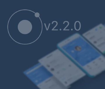 Ionic 2.2.0
