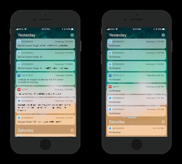 ios 11 notification