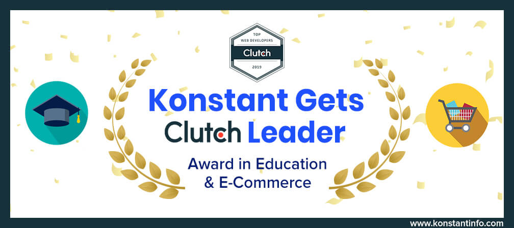 Konstant Gets Clutch Leader Award in Education and E-Commerce Categories