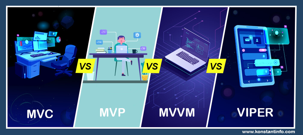 Coronating iOS Development with MVC vs. MVP vs. MVVM vs. Viper